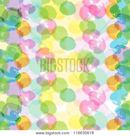 Bright colored multiply ink drop pattern