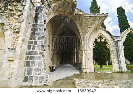 Bellapais Abbey in Northen occupied Cyprus