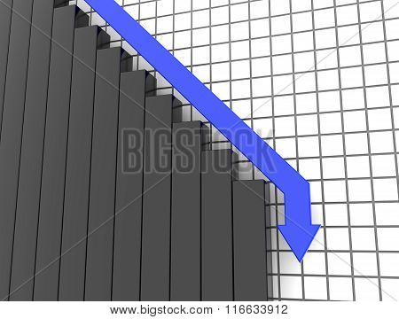 Blue 3D Arrow Crash