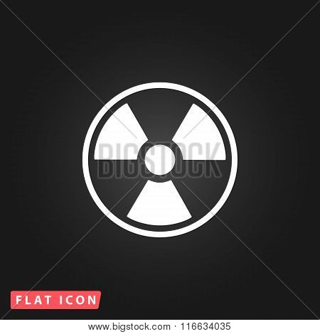 Radiation flat icon