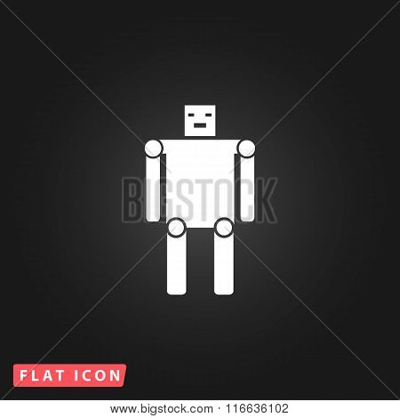 Funny robot flat icon