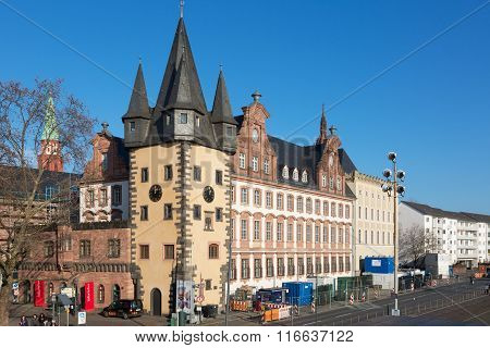 Street View Of Frankfurt.