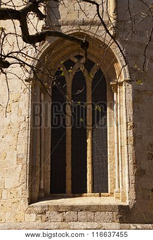 Window In The Romanesque Monastery Of Sant Cugat, Barcelona