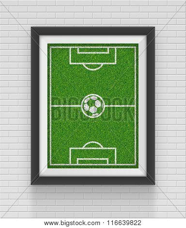 Realistic frame. Soccer concept. Element for your design. JPEG version.