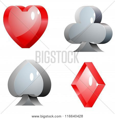 glass casino elements vector illustration