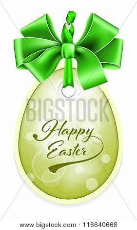 Vector Easter tag.