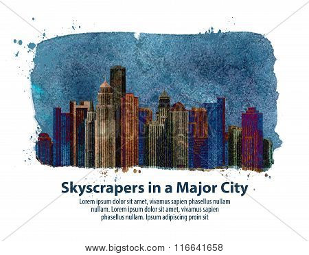 city. vector illustration