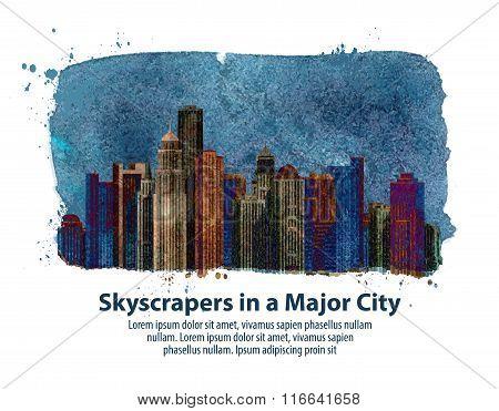 city. vector illustration