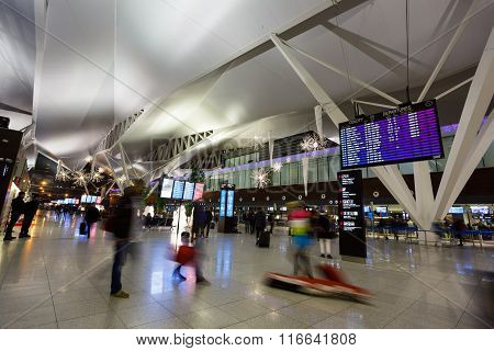 Tourists In Airport