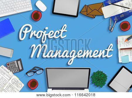 Project Management Planning Ideas Concept