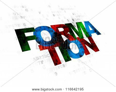 Learning concept: Formation on Digital background