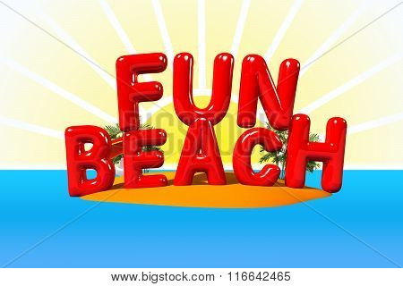 Fun Beach On Island