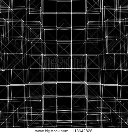 Abstract 3D Cube Vector Texture Background   Creative Line Art
