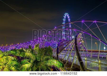 DNA bridge  at night