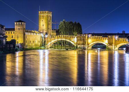 Castle Vecchio In Verona, Italy