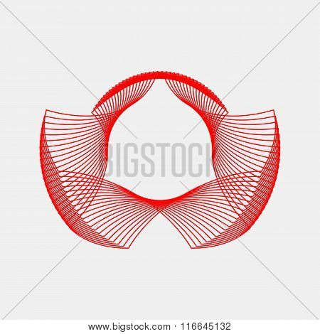 Red Abstract Fractal Shape