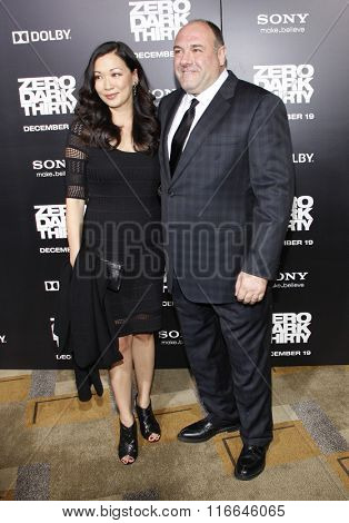 James Gandolfini and wife Deborah Lin at the Los Angeles Premiere of