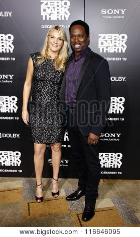 Harold Perrineau and wife Brittany Perrineau at the Los Angeles Premiere of