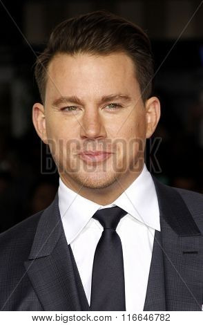 Channing Tatum at the World premiere of 'Hail, Caesar!' held at the Regency Village Theatre in Westwood, USA on February 1, 2016.