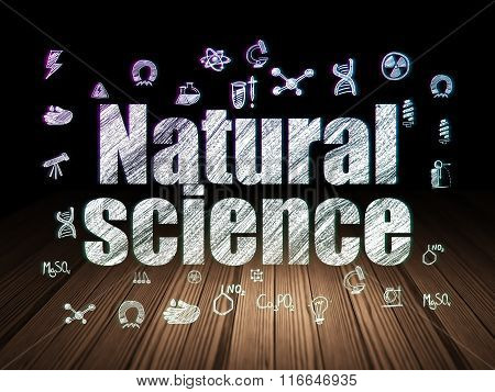 Science concept: Natural Science in grunge dark room