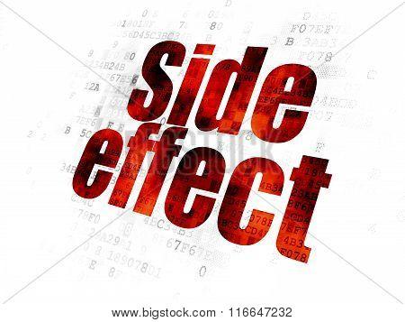Healthcare concept: Side Effect on Digital background