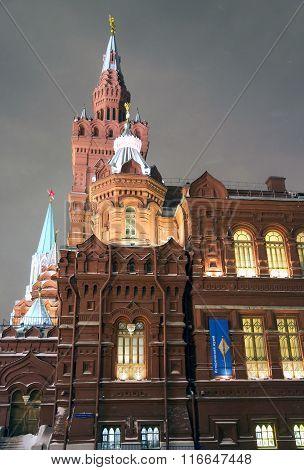 Night panorama of State Historic Museum