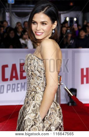 Jenna Dewan at the World premiere of 'Hail, Caesar!' held at the Regency Village Theatre in Westwood, USA on February 1, 2016.