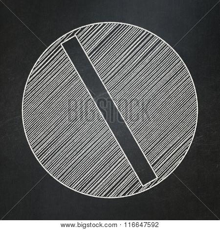 Medicine concept: Pill on chalkboard background