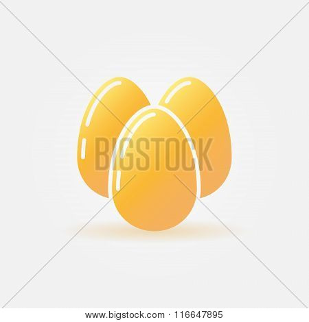 Eggs vector icon