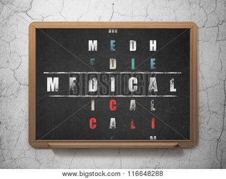 Healthcare concept: Medical in Crossword Puzzle