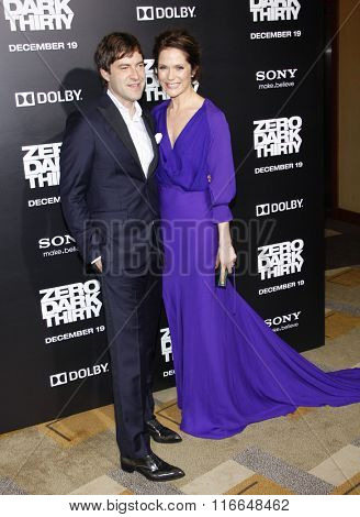 LOS ANGELES, CALIFORNIA - December 10, 2012. Mark Duplass and Katie Aselton at the Los Angeles premiere of 'Zero Dark Thirty' held at the Dolby Theatre in Los Angeles.