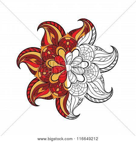 Zentangle stylized Arabic, Indian round Mandala for adult colori