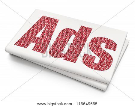 Marketing concept: Ads on Blank Newspaper background