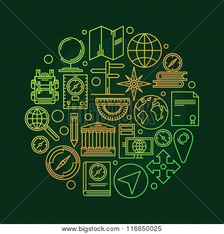 Vector geography illustration