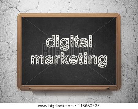 Marketing concept: Digital Marketing on chalkboard background