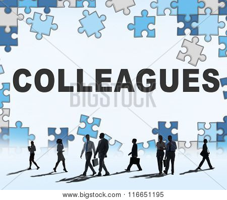 Colleagues Partner Team Officemate Business Concept
