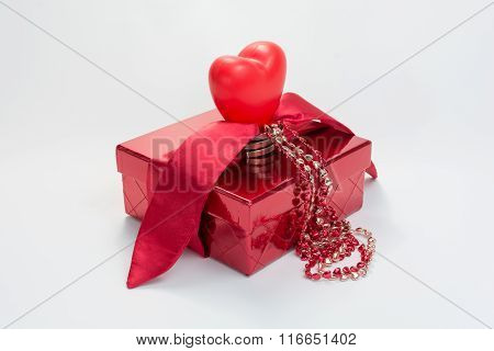 Gift box with heart.