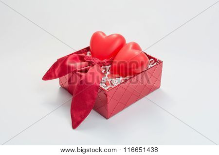 Gift Box with hearts.