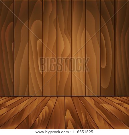 Realistic wood floor and wall for your design.