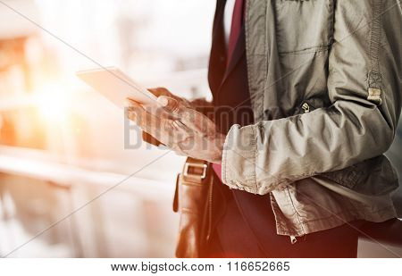 Journalist Businessman Travel Commuter Technology Concept