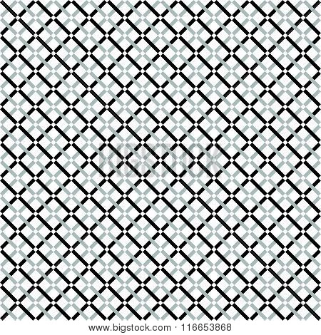 Repeatable Pattern With Dashed Lines Texture. Minimal Grayscale / Monochrome Background.