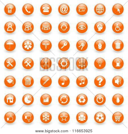 business internet icons set