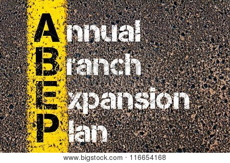 Business Acronym Abep Annual Branch Expansion Plan