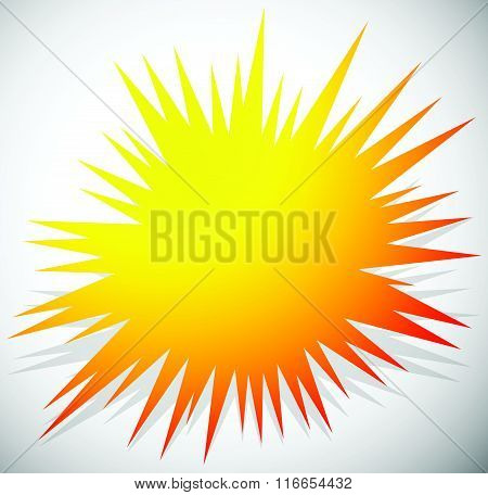 Edgy Blank Explosion Shape Isolated. Abstract Vector Element.