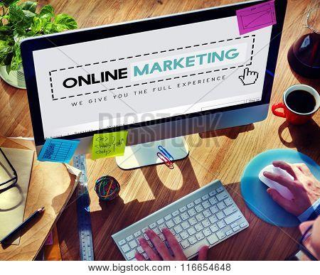Online Marketing Advertising Branding Commerce Concept