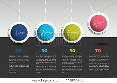 Infographic Vector Option Banner.
