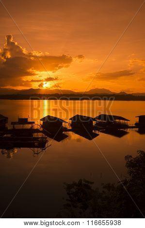 Thailand Kanchanaburi Thong Pha Phum Lake