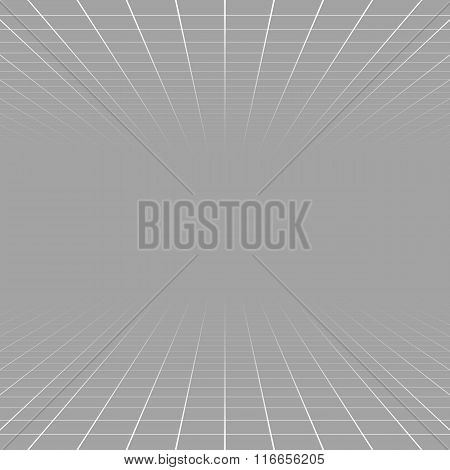 Fading And Vanishing Grid, Mesh 3D Abstract Background