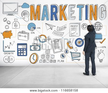 Marketing Commercial Advertising Plan Concept
