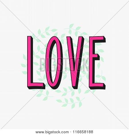 Romantic Love Simple Lettering